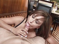 Mature lady does great blowjob POV