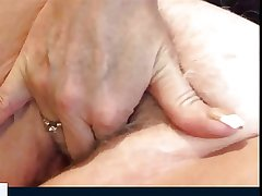 Hot granny plays with the brush pussy (good make public from 3.34)